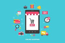 """Illustration """"Online shopping"""""""