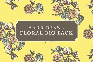 Hand Drawn Floral Big Pack