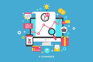 "Illustration ""E-commerce"""