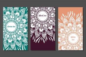 12 templates for tea pack, yoga, spa