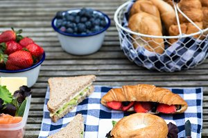 Picnic setting with Hamper Backpack