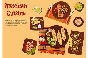 Mexican cuisine dishes