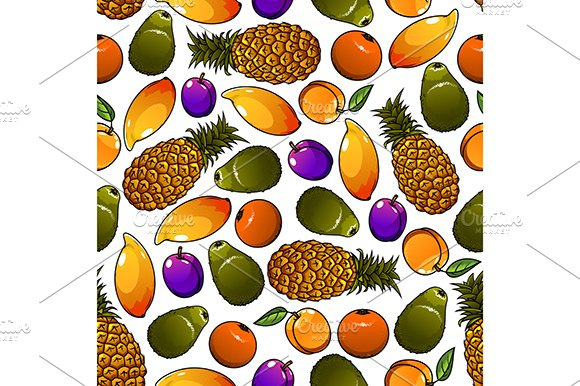 Pattern of fresh and ripe fruits