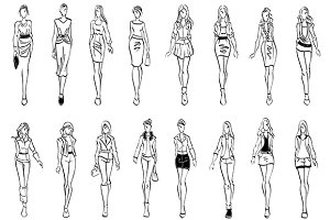 Fashion models sketches