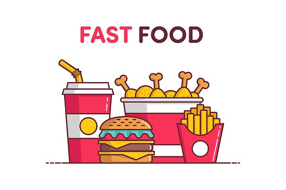 "Illustration ""Fast Food"""