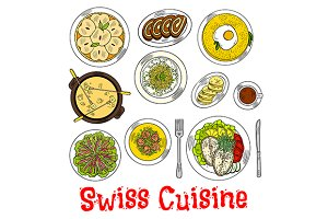 Swiss cuisine dishes