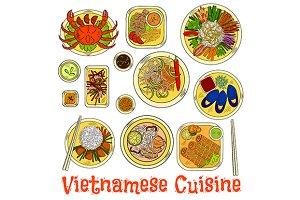 Vietnamese cuisine set