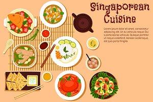 Singaporean seafood dishes