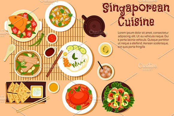 Singaporean seafood dishes