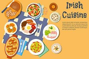 Irish cuisine menu dishes
