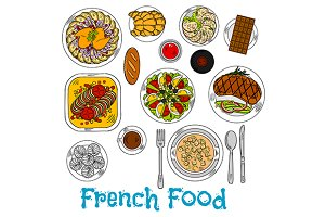 French cuisine dishes menu