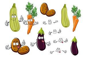 Carrot potato eggplant zucchini