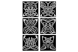 Tribal butterflies symbols