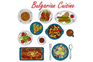 Bulgarian cuisine dishes