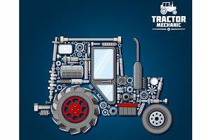 Tractor mechanics scheme