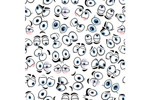 Funny comics eyes background