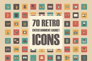 70 retro gadget icons