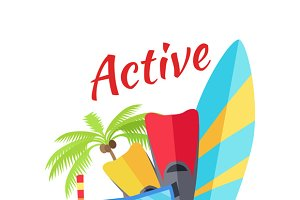 Summer Active Vacation Concept