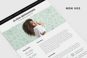 Blog Media Kit Template - 3 Page