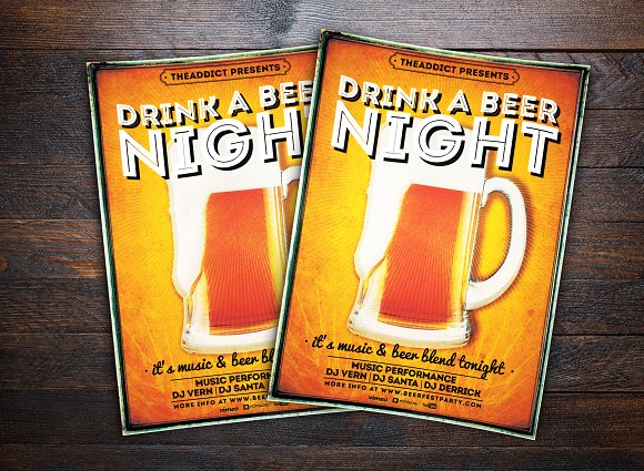 Beer Night Party Flyer