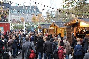 London Crowd at Winter Fair