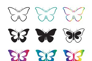 Vector group of butterfly