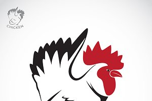 Vector image of an chicken.