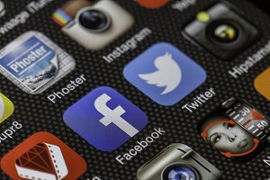 Social Media on a Phone