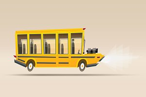 School Bus. Vector Illustration.