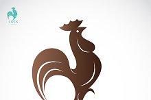 Vector image of an cock design