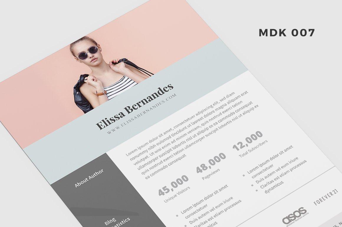 Blog Media Kit Template - 2 Page ~ Social Media Templates ~ Creative ...