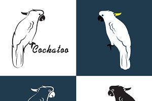 Vector image of an cockatoo