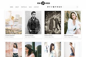 Pin Grid Responsive WordPress Theme