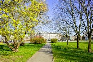 Saxon Garden in Warsaw