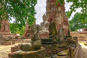 Ayutthaya Historical Park. Thailand.