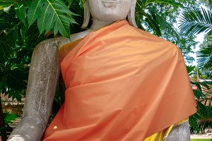 Ancient Buddha statue. Thailand.