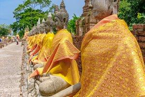 Buddha statues. Ayutthaya, Thailand