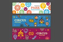 Circus Amusement Park Banner Card