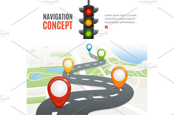 Navigation Concept. Vector - Illustrations