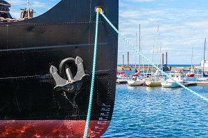 Bow of a icebreaker ship