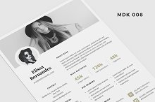 Blog Media Kit Template - 2 Page