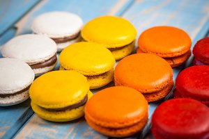 Colorful macarons
