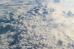 Above the clouds, Aerial Photo