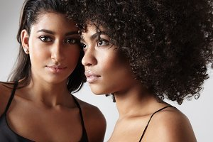 maroccan and black woman portrait