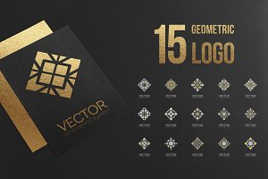 Geometric logo template set.