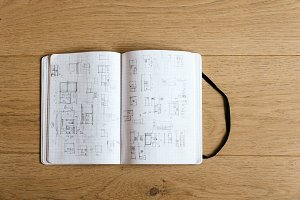 Drawings in Architect Notebook