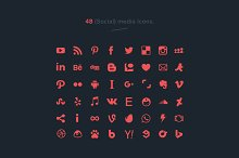 48 social media icons (vector)