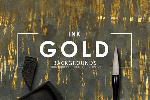Gold Ink Backgrounds