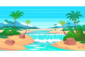 Tropical landscape (vector)
