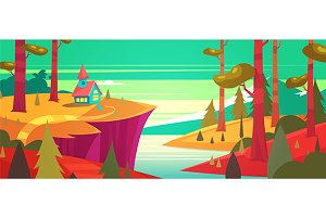 Forest landscape (vector)